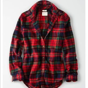 Red, Green, and Blue Plaid Flannel
